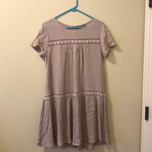 taupe colored homecoming dress